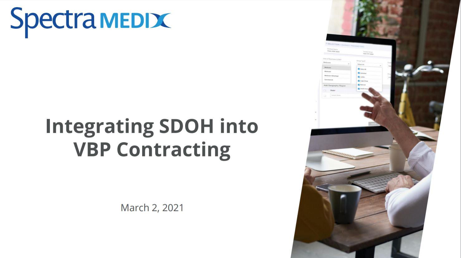 Integrating SDOH into VBP Contracting